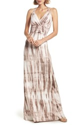 Felicity And Coco Shafter Tie Dye Jersey Halter Maxi Dress
