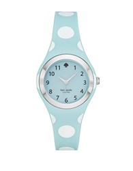 Kate Spade Blue Polka Dot Rumsey Silicone Strap Watch