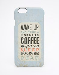 Signature Coffee Iphone 6 Case Blue