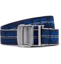 Off White 3.5Cm Blue Industrial Canvas Belt Blue