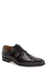 Mezlan Men's 'Agra' Double Monk Strap Shoe Black