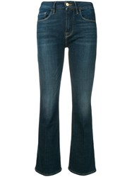 Frame Mid Rise Flared Jeans Blue