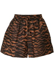 The Upside Ola Tiger Pattern Shorts 60