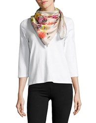 Collection 18 Floral Printed Scarf Camel