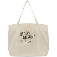 Maison Kitsune Off White 'Palais Royal' Shopping Tote