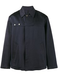 Dries Van Noten Strap Long Sleeve Shirt Blue