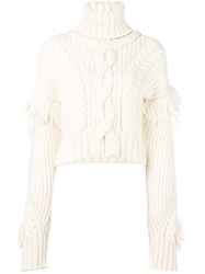 Off White Cable Knit Chunky Jumper White