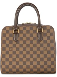 Louis Vuitton Vintage Triana Tote Bag Brown