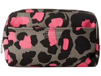 Marc By Marc Jacobs Printed Leopard Canvas Cosmetics Max Cosmetic Raspberry Sorbet Multi Cosmetic Case Brown