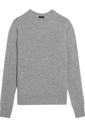 Joseph Button Detailed Cashmere Sweater Gray
