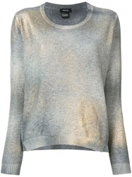 Avant Toi Metallic Jumper Grey
