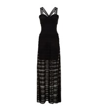 Herve Leger Strappy Fishtail Gown Female Black