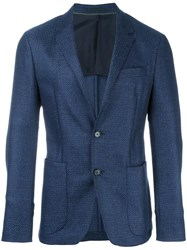 Z Zegna Patch Pockets Blazer Blue