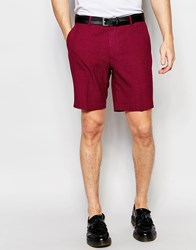 Asos Smart Skinny Shorts In Red Check Red