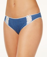 Charter Club Pointelle Cotton Bikini Only At Macy's Denim Heather