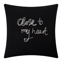 Bella Freud Close To My Heart Cushion Black