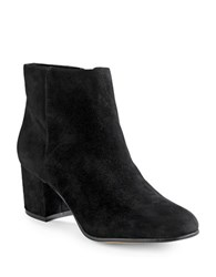 424 Fifth Elyssa Suede Ankle Boots Black