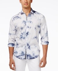 Inc International Concepts Men's Roger Long Sleeve Shirt Only At Macy's Blue