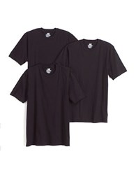 Jockey 3 Pack Stay New Crewneck Cotton T Shirt Black