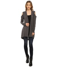 Lna Open Shoulder Cardigan Charcoal Women's Sweater Gray