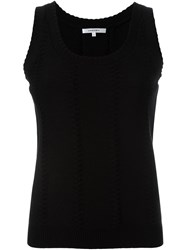 Carven Loose Tank Top Black
