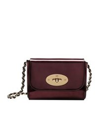 Mulberry Mini Lily Mirror Metallic Shoulder Bag Oxblood
