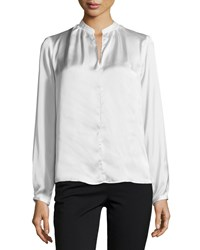 Philosophy High Low Split Neck Blouse Ice Reflection