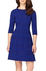 Tahari Women's Ribbed Fit And Flare Dress