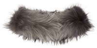 Yves Salomon Black And Grey Raccoon Fur Collar Scarf