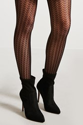 Forever 21 Crochet Lace Tights Black