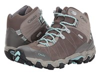 Oboz Bridger Bdry Cool Gray Hiking Boots