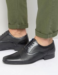 Red Tape Etched Lace Up Smart Shoes Black