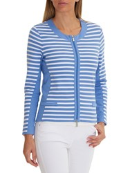 Betty Barclay Sporty Striped Cardigan Blue White