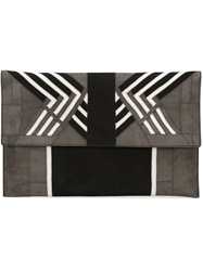 Rick Owens Flap Clutch Grey