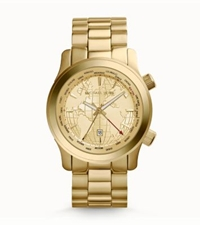 Michael Kors Oversized Runway Gold Tone Watch