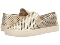 Tory Burch Jesse Perforated Sneaker Spark Gold Women's Slip On Shoes Brown
