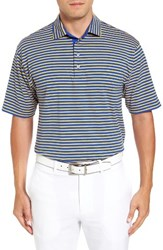 Bobby Jones Men's Liquid Cotton Feed Stripe Polo Marina