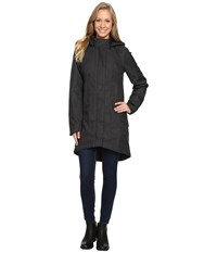 The North Face Temescal Trench Coat Tnf Dark Grey Heather Herringbone Women's Coat Black