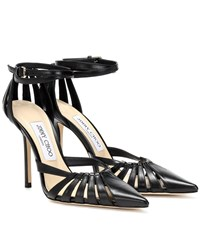 Jimmy Choo Travis 100 Leather Pumps Black