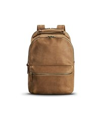 Shinola Runwell Leather Backpack Light Brown