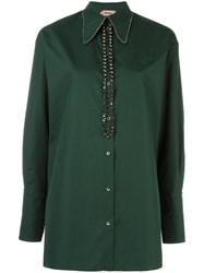 N 21 No21 Embellished Collar Shirt Green