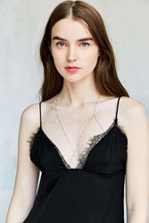 Urban Outfitters Giselle Bra Body Chain Silver