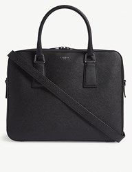 Sandro Downtown Saffiano Leather Briefcase Black