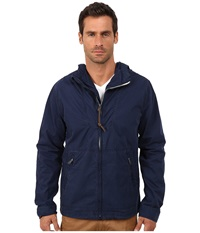 Lucky Brand Hooded Tech Jacket Navy Men's Coat