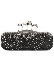 Alexander Mcqueen Studded Knuckle Box Clutch Women Leather Metal One Size Black