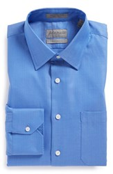 Men's Big And Tall John W. Nordstrom Traditional Fit Herringbone Dress Shirt French Blue