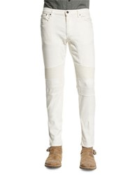 Belstaff Eastham Slim Fit Moto Jeans Natural White