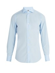 Finamore Seattle Cotton Poplin Shirt Light Blue