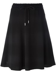 See By Chloe Embroidered Trim Drawstring Skirt Black
