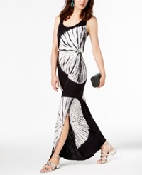 Inc International Concepts I.N.C. Petite Tie Dyed Maxi Dress Black Day Dream Tie Dye
